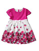 Girl's Casual/Daily Floral DressCotton Summer Pink