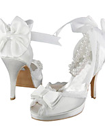 Women's Heels Spring / Summer Heels / Platform Stretch Satin Wedding / Pearl White Others