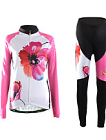 Sports Cycling Jersey with Tights Women's Long Sleeve BikeBreathable / Thermal / Warm / Wearable / 3D Pad / Ultra Light Fabric /