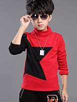 Boy's Casual/Daily Color Block TeeCotton Winter Black / Red