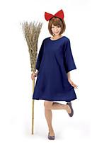 Costumes Movie & TV Theme Costumes Halloween Blue Patchwork Terylene Dress / Headband