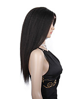 20-24inch Pure virgin brazilian human hair wigs kinky straight glueless/full lace human hair wigs