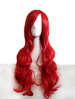 Cosplay Wigs Tung Beauty Crane Yoko Red Mrs . Long Curly Red Hair  80 CM