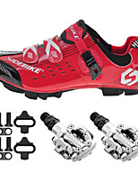 Cycling Shoes SD003 Sneakers Damping / Cushioning Red / Black-sidebike And PD-M520 Lock Pedals