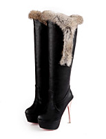 Women's Boots Spring / Fall / Winter Platform / Fashion Boots Leatherette / Casual Stiletto Heel OthersBlack / Red /