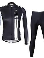 PALADIN® Fahrradtrikots mit Fahrradhosen Damen Langärmelige FahhradAtmungsaktiv / Rasche Trocknung / UV-resistant / Videokompression /