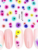Ultrathin Semitransparent Imitate Dried flower 3D Nail Stickers(Avoid Soaking In Water)