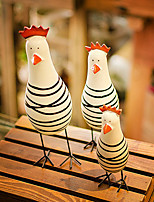 3PC Newfangled Artware Decorative Items Indoor Office Fashionable Holiday Gift Counter Decorations