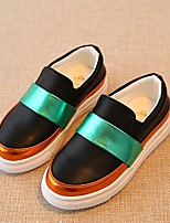 Unisex Loafers & Slip-Ons Spring / Fall Comfort / Round Toe Leatherette Casual Flat Heel Others Black / White Others
