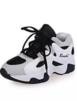 Homme-Décontracté-Noir / Blanc-Plateforme-Creepers-Chaussures d'Athlétisme-Polyuréthane