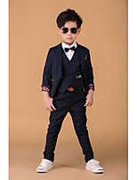 Cotton Ring Bearer Suit - 3 Pieces Includes  Jacket / Vest / Pants