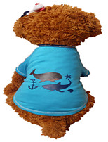 Holdhoney Dog Shirt / T-Shirt Green / Blue Dog Clothes Summer Animal Fashion #LT15050281