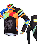 Sports Cycling Jacket with Pants Men's Long Sleeve Bike Breathable / Thermal / Warm / Comfortable Clothing Sets/Suits Fleece Classic