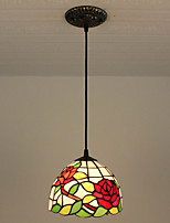 25W Pendant Light   Rustic/Lodge / Tiffany Painting Feature for Mini Style Metal Bedroom / Entry