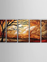 Hand-Painted Oil Painting Cloud Tree Landscape Wall Art Abstract Home Office Decor  Stretched Frame Ready to Hang