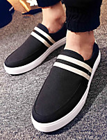 Men's Loafers & Slip-Ons Spring Fall Comfort Canvas Casual Flat Heel Others Black Blue Others
