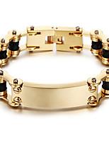 Armbänder Ketten- & Glieder-Armbänder Edelstahl Geometrische Form Modisch Halloween / Party / Alltag / Normal Schmuck Geschenk Goldfarben,