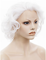 IMSTYLE 10Qingdao Factory Short White Curly Synthetic Hair Wig Lace Front Drag Queen