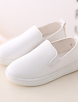 Unisex Loafers & Slip-Ons Fall Comfort PU Casual Flat Heel Others Black Pink White Others