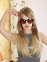 perucas длинные прямые Ombre коричневый цвет женского термостойкие синтетические парики естественный моды парики партии с челкой