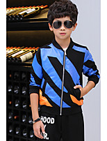 Boy's Casual/Daily Striped Clothing SetCotton Spring / Fall Blue / Red / White