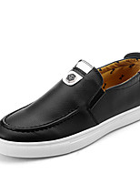 Men's Loafers & Slip-Ons Fall Comfort Leatherette Casual Flat Heel Others Black Brown White Others