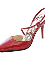 Women's Heels Summer Heels PU Casual Stiletto Heel Buckle Black / Pink / Red / White / Gray Others