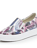 Women's Loafers & Slip-Ons Fall Platform Leather Casual Platform Others Yellow Purple Other