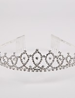 Women's Rhinestone / Crystal / Brass / Imitation Pearl Headpiece-Wedding / Special Occasion Tiaras 1 Piece Clear / White