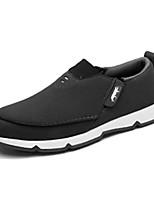 Herren-Loafers & Slip-Ons-Lässig-Stoff-Flacher Absatz-Komfort-Blau Braun Grau