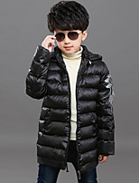 Boy's Casual/Daily Patchwork Down & Cotton Padded / Suit & BlazerPolyester Winter Black / Blue