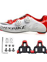 Cycling Shoes Unisex Outdoor / Road Bike Sneakers Damping / Cushioning White / Red-sidebike  And SPD Lock Sheet