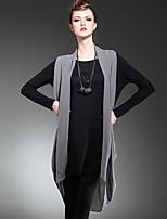 LUTING Women's Round Neck Long Sleeve Above Knee Dress-6022
