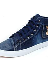 Men's Denim Casual Flat Heel Zipper / Lace-up Black / Blue Walking EU39-43
