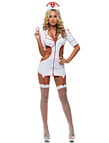 Costumes Uniforms Halloween White Solid Terylene Dress / More Accessories