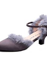 Chaussures de danse(Noir / Rouge / Gris) -Non Personnalisables-Talon Aiguille-Cuir-Latine