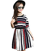 Girl's Casual/Daily Striped DressPolyester Spring / Fall Multi-color