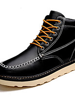 Men's Boots Spring / Fall Comfort PU Casual Flat Heel  Black / Brown / Red Sneaker