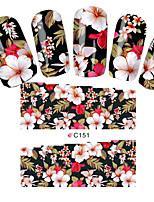 моды наклейки цветы ногтя подсказки искусства полное покрытие оборачивает Переброска воды ногтей наклейки украшения инструменты
