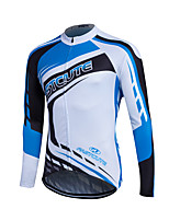 Sport Fahrradtrikot Damen / Herrn / Kinder / Unisex Langärmelige FahhradAtmungsaktiv / warm halten / Rasche Trocknung / Reißverschluß