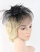 נשים נוצה רשת כיסוי ראש-חתונה אירוע מיוחד קישוטי שיער חלק 1