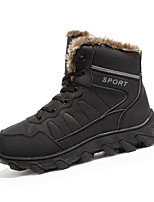 Men's Boots Fall / Winter Snow Boots / Comfort / Round Toe Leather Outdoor Flat Heel Lace-up Black / Brown