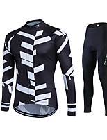 Fastcute® Cycling Jersey with Tights Women's / Men's / Unisex Long Sleeve BikeBreathable / Quick Dry / Moisture Permeability / 3D Pad /
