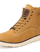 Men's Boots Spring / Fall / Winter Cowboy / Western Boots / Combat Boots Nappa Leather Outdoor Casual Yellow Snow Boots