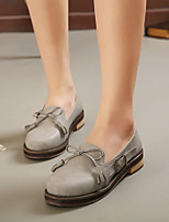 Women's Flats Spring / Fall Comfort Leather Casual Flat Heel Others Gray Others