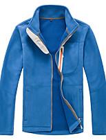 Hiking Softshell Jacket Men's Thermal / Warm Fall/Autumn / Winter Velvet Coffee / Gray / Purple / Royal Blue / Sky Blue