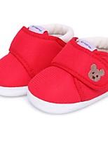 Unissex-Rasos-Sapatos de Berço-Rasteiro-Azul / Rosa / Vermelho / Caqui-Algodão-Casual