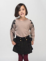 Girl's Casual/Daily Galaxy Dress / SkirtPolyester Winter / Spring / Fall Black