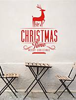 AYA DIY Wall Stickers Wall Decals Christmas Festival It's Chritmas Time Style PVC Stickers 42*53cm