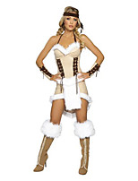 Cosplay Costumes / Party Costume Pirate Festival/Holiday Halloween Costumes Ivory Solid Dress / Headwear / Bracelet/Bangle Halloween